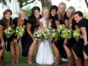 cowgirl wedding
