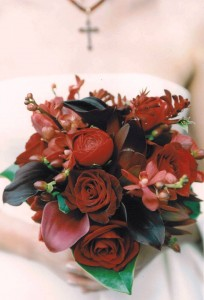 dark red bouquet