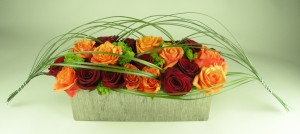 spacey red orange centerpiece